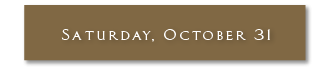 Saturday, October 31, 2020